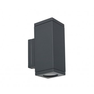 NORLYS 792GR | Sandvik Norlys zidna svjetiljka 2x GU10 265lm 2700K IP65 grafit