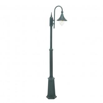 NORLYS 810BG | Firenze Norlys podna svjetiljka 193cm s podešavanjem visine 1x E27 IP54 antik crno, zeleno, prozirno