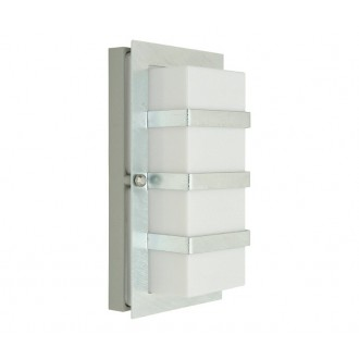 NORLYS 860GA | Boden Norlys zidna svjetiljka 1x E27 IP54 sivo, opal, prozirno