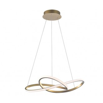 NOVA LUCE 1701101002 | Fusion-NL Nova Luce visilice svjetiljka 1x LED 4081lm 3000K mesing, bijelo