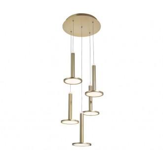 NOVA LUCE 1703301202 | Palencia Nova Luce visilice svjetiljka 1x LED 1967lm 3000K mesing