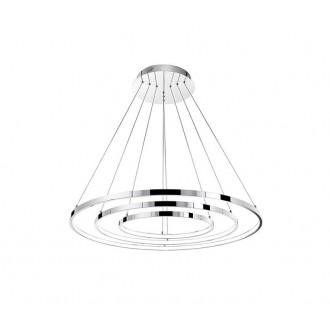 NOVA LUCE 17222004 | Aria-NL Nova Luce visilice svjetiljka okrugli elementi koji se mogu okretati 1x LED 8100lm 3000K krom