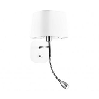 NOVA LUCE 6916202 | Montato Nova Luce zidna svjetiljka s prekidačem fleksibilna 1x E27 + 1x LED 180lm bijelo, krom