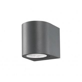 NOVA LUCE 710021 | Nero-NL Nova Luce zidna svjetiljka 1x GU10 IP54 tamno siva