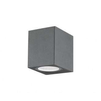 NOVA LUCE 710041 | Nero-NL Nova Luce zidna svjetiljka 1x GU10 IP54 tamno siva