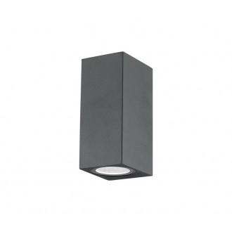 NOVA LUCE 710042 | Nero-NL Nova Luce zidna svjetiljka 2x GU10 IP54 tamno siva