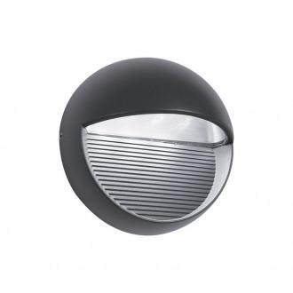 NOVA LUCE 710446 | Down Nova Luce zidna svjetiljka 1x LED 480lm 3000K IP54 tamno siva