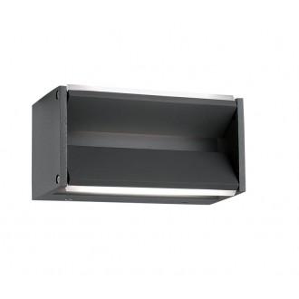 NOVA LUCE 713122 | Twin-NL Nova Luce zidna svjetiljka elementi koji se mogu okretati 2x LED 600lm 3000K IP54 tamno siva