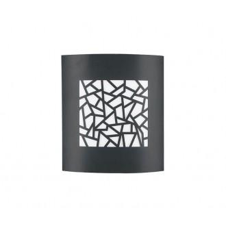 NOVA LUCE 713212 | Zenith Nova Luce zidna, stropne svjetiljke svjetiljka 1x E27 IP44 tamno siva, bijelo