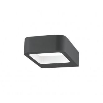 NOVA LUCE 713312 | Acqua-NL Nova Luce zidna svjetiljka 1x LED 320lm 3000K IP54 tamno siva