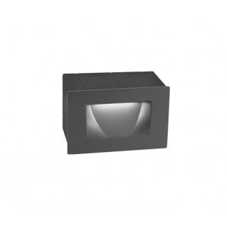NOVA LUCE 726401 | Krypton Nova Luce ugradbena svjetiljka 1x LED 270lm 3000K IP54 tamno siva