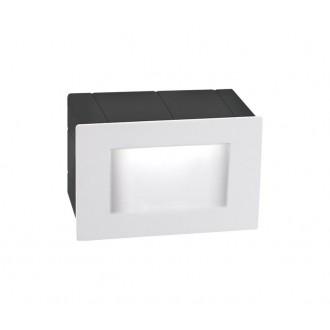 NOVA LUCE 726402 | Krypton Nova Luce ugradbena svjetiljka 1x LED 270lm 3000K IP54 bijelo