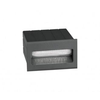 NOVA LUCE 726404 | Krypton Nova Luce ugradbena svjetiljka 1x LED 145lm 3000K IP54 tamno siva