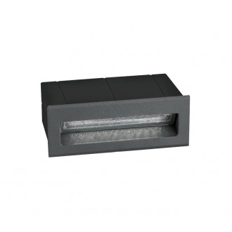 NOVA LUCE 726406 | Krypton Nova Luce ugradbena svjetiljka 1x LED 270lm 3000K IP54 tamno siva