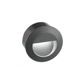 NOVA LUCE 726407 | Krypton Nova Luce ugradbena svjetiljka Ø80mm 1x LED 270lm 3000K IP54 tamno siva