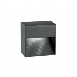 NOVA LUCE 726408 | Down Nova Luce zidna svjetiljka 1x LED 270lm 3000K IP54 tamno siva