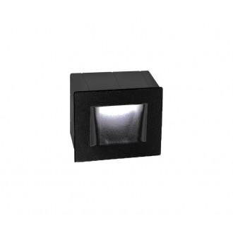 NOVA LUCE 727002 | Krypton Nova Luce ugradbena svjetiljka 1x LED 270lm 3000K IP54 tamno siva