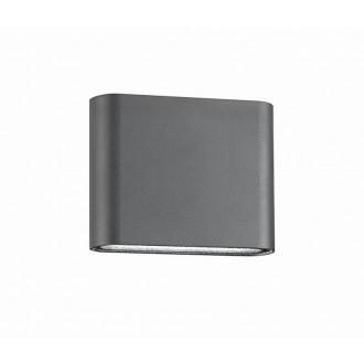 NOVA LUCE 740401 | Soho-NL Nova Luce zidna svjetiljka 2x LED 480lm 3000K IP54 tamno siva