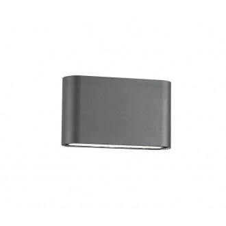 NOVA LUCE 740404 | Soho-NL Nova Luce zidna svjetiljka 2x LED 800lm 3000K IP54 tamno siva