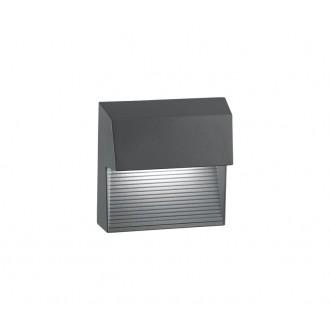 NOVA LUCE 752250 | Down Nova Luce zidna svjetiljka 1x LED 480lm 3000K IP54 tamno siva