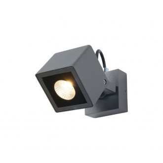 NOVA LUCE 752470 | Focus-NL Nova Luce zidna svjetiljka elementi koji se mogu okretati 1x LED 420lm 3000K IP54 tamno siva
