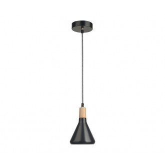 NOVA LUCE 7605173 | Venanzio Nova Luce visilice svjetiljka 1x E14 crno mat, bezbojno