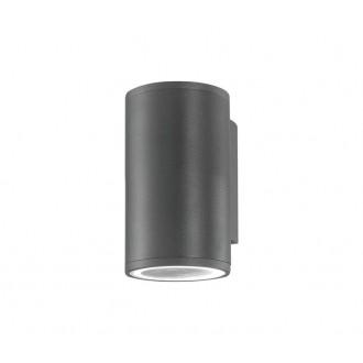 NOVA LUCE 773221 | Nodus-NL Nova Luce zidna svjetiljka 1x GU10 IP54 tamno siva