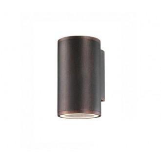 NOVA LUCE 773222 | Nodus-NL Nova Luce zidna svjetiljka 1x GU10 IP54 braon antik