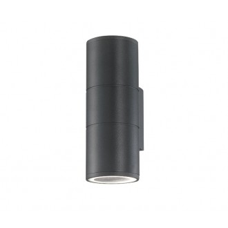 NOVA LUCE 773223 | Nodus-NL Nova Luce zidna svjetiljka 2x GU10 IP54 tamno siva