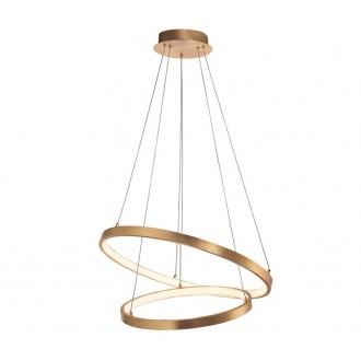 NOVA LUCE 8100281 | Leon-NL Nova Luce visilice svjetiljka 1x LED 4650lm 3000K zlatno, bijelo