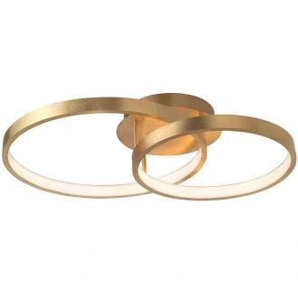 NOVA LUCE 8100282 | Leon-NL Nova Luce visilice svjetiljka 1x LED 2650lm 3000K zlatno, bijelo