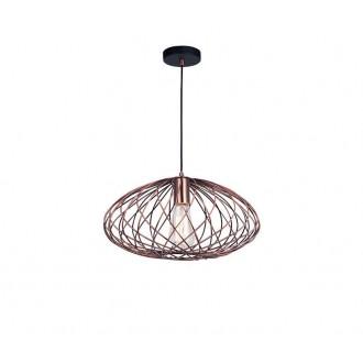 NOVA LUCE 8436420 | Eriberto Nova Luce visilice svjetiljka 1x E27 crveni bakar, crno