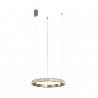 NOVA LUCE 86016804 | Orlando-NL Nova Luce visilice svjetiljka 1x LED 1020lm 3000K antik brončano, prozirno