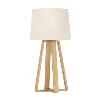 NOVA LUCE 8700302 | Derek-NL Nova Luce stolna svjetiljka 37,5cm s prekidačem 1x E27 bijelo, drvo