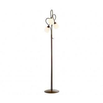 NOWODVORSKI 1512 | Miki Nowodvorski podna svjetiljka 180cm s prekidačem 3x E27 smeđe, bijelo