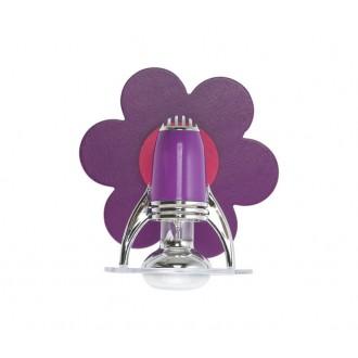 NOWODVORSKI 1730 | Lili Nowodvorski zidna svjetiljka elementi koji se mogu okretati 1x E14-R50 ljubičasta, ružičasto, krom