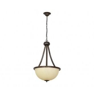 NOWODVORSKI 2770 | Baron Nowodvorski visilice svjetiljka 3x E27 antik brončano, bež