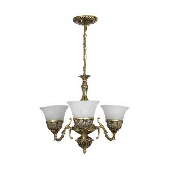 NOWODVORSKI 3368 | Korynt Nowodvorski luster svjetiljka 3x E27 zlatno, opal