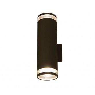 NOWODVORSKI 3407 | RockN Nowodvorski zidna svjetiljka 2x E27 IP44 crno, prozirna