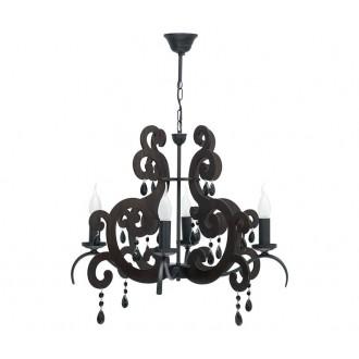 NOWODVORSKI 3423 | Isabella Nowodvorski visilice svjetiljka 4x E14 antik crno