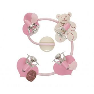 NOWODVORSKI 3662 | Honey Nowodvorski zidna, stropne svjetiljke svjetiljka elementi koji se mogu okretati 4x E14-R50 ružičasto, bijelo