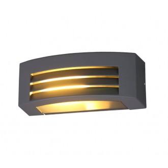 NOWODVORSKI 4387 | Orinoko Nowodvorski zidna svjetiljka za štednu žarulju 1x E27 IP44 sivo