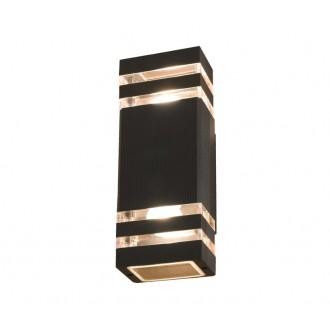 NOWODVORSKI 4424 | Rio Nowodvorski zidna svjetiljka 2x E27 IP54 crno, prozirna