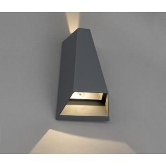 NOWODVORSKI 4441 | Peak Nowodvorski zidna svjetiljka 2x LED 62lm 3000K IP54 sivo