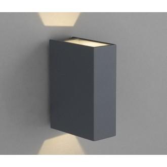 NOWODVORSKI 4442 | Dras Nowodvorski zidna svjetiljka 2x LED 122lm 3000K IP54 sivo