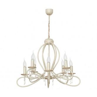 NOWODVORSKI 4563 | FrescoN Nowodvorski luster svjetiljka 8x E14 antik bijela, prozirno