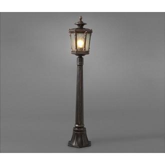 NOWODVORSKI 4694 | AmurN Nowodvorski podna svjetiljka 115cm 1x E27 IP44 brončano smeđe, prozirna