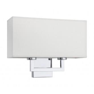 NOWODVORSKI 4731 | Hotel Nowodvorski zidna svjetiljka 2x E27 krom, bijelo