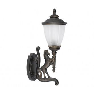 NOWODVORSKI 4902   Horse Nowodvorski zidna svjetiljka 1x E27 IP44 bronca, opal