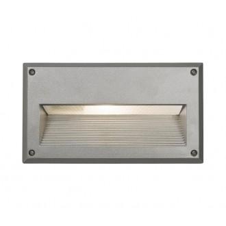 NOWODVORSKI 4966 | Basalt Nowodvorski ugradbena svjetiljka 1x E14 IP44 srebrno